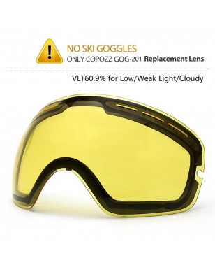 COPOZZ Brand Ski Goggles Double Lens UV400 Anti Fog Unisex Snowboard Ski Glasses With Night Vision Ski Lens Snow Eyewear Adult - Night replace lens YSTE-22726