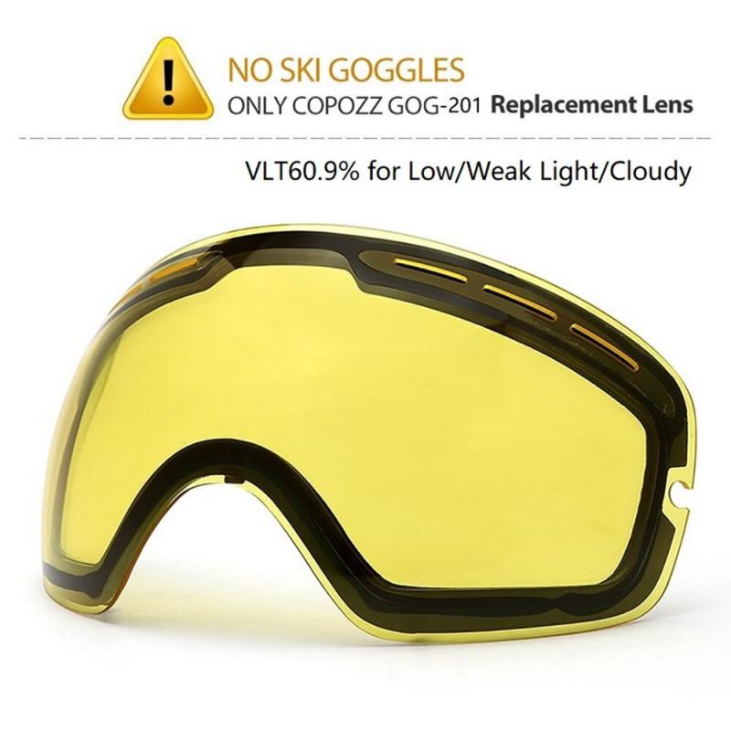 COPOZZ Brand Ski Goggles Double Lens UV400 Anti Fog Unisex Snowboard Ski Glasses With Night Vision Ski Lens Snow Eyewear Adult - Night replace lens YSTE-22726