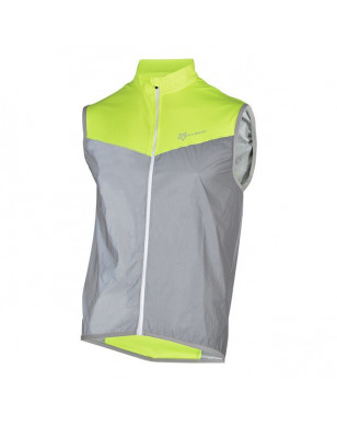 ROCKBROS Cycling Bike Reflective Sleeveless Jacket Sportswear Bike Bicycle Wind Coat Safety Fluorescence Bike Breathable Jersey - Style 1, L YSTE-23676