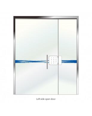 Sherlock G1 Password Smart Door Lock For Office Glass Door Keyless Digital Electric Integrated Lock Bluetooth APP Phone Control - China, Left YSTE-29553
