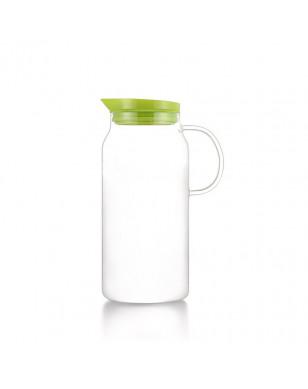 SAMADOYO Simple Design Hot Sale Large Glass Jug with Filter Lid 1300ml,Ice Water Bottle,Modern Tea Infuser Bottle - Green YSTE-30291
