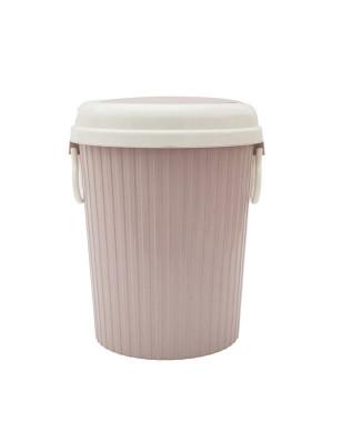Portable Trash Can Garbage Bin Swing Lid Home Kitchen Waste Basket LXY9 - Pink - S YSTE-30354