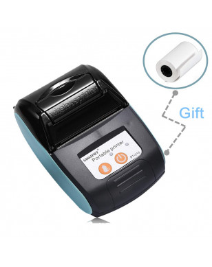Portable Mini 58mm Bluetooth Wireless Thermal Receipt Ticket Printer For Mobile Phone Bill Machine shop printer for Store - Blue Color, China, EU Plug YSTE-39899